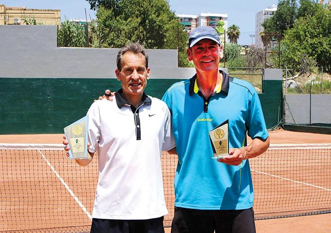 Jordi Arrese y Marcos Górriz, en el 50è aniversari del club