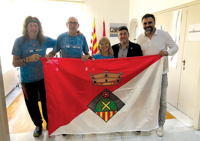 L'alcalde i el regidor d'Esports de SVM van rebre Siscu Calopa, Lluís Casas i Àfrica López